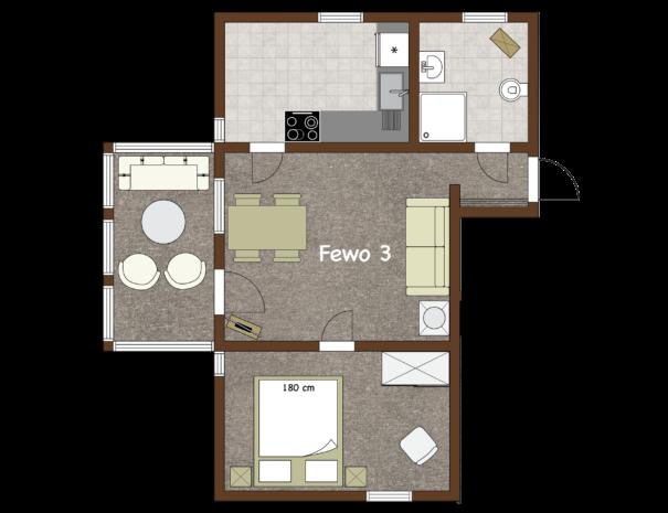 Fewo #3 - Grundriss